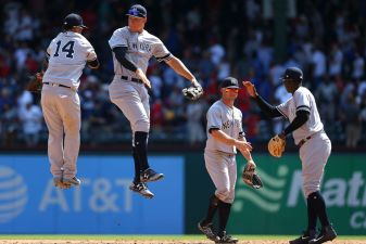 Chapman Gets Save, Yankees Allow 1 Hit to Top Rangers 3-1