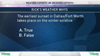 Weather Quiz: Sunset and Winter Solstice
