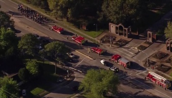 Funeral Procession Held for Fallen Houston Firefighter