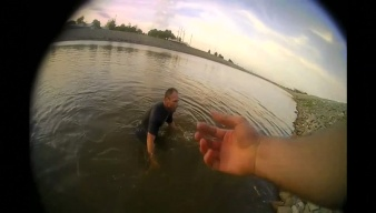 Man Tries to Flee Cops in River, Gets Tired