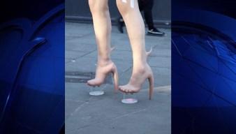 Designer Creates Boots That Look Like Human Skin