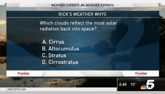 Weather Quiz: Cloud Reflection