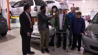 Dallas Cowboys Player Hands Over Car Keys to Denton Couple