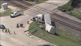 Amtrak Train Collides with Tractor-Trailer