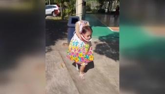 Little Girl's Creepy Costume Goes Viral