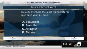 Weather Quiz: Texas City With Most Thunderstorms