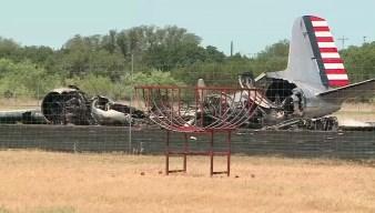 Vintage Plane Crashes in Burnet, Texas