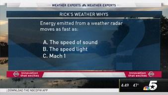 Weather Quiz: Weather Radar Energy
