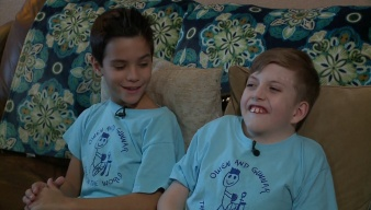 Two Central Texas Boys Sharing a Message Through Company's Commercial