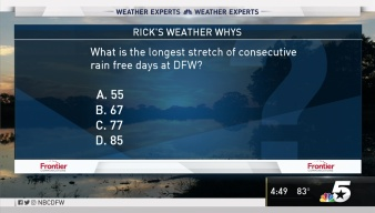 Weather Quiz: Rain Free Days