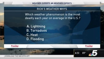 Weather Quiz: Most Deadly Weather Phenomenon
