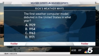Weather Quiz: When did the First Weather Computer Model Debut?