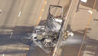 Box Truck Crash, Fire, Slows Traffic on 75
