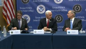Pence, Abbott and Perry on Harvey Recovery
