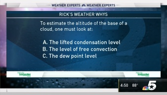 Weather Quiz: How to Estimate the Altitude of the Base of a Cloud