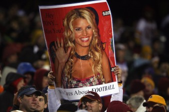 Jessica Simpson Moves Down NFC East Depth Chart