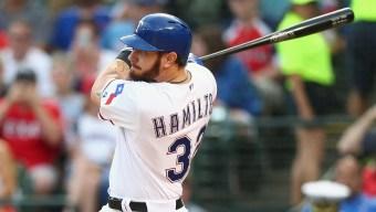 Hamilton Has 2 Hits, 2 Runs in Rangers' 4-2 Win Over Angels