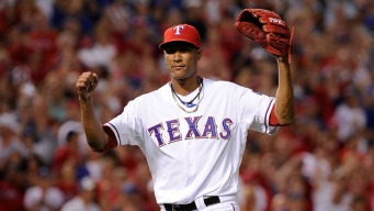 Rangers Have Edge in Pitching
