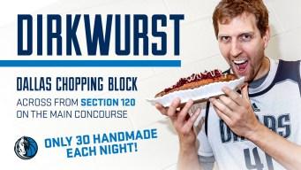 Dallas Mavericks Introduce 'Dirkwurst'