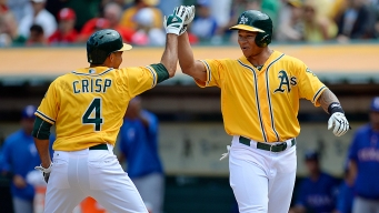 Former A's Help Rangers To Win