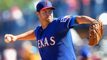 Lewis Struggles While Rangers' Rotation Goes to the Dogs