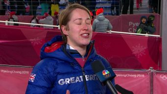 Lizzy Yarnold Thrilled to Win Repeat Gold in Skeleton
