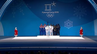 Medal Ceremony: France Gets Biathlon Mixed Relay Gold