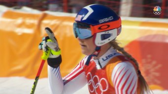 Lindsey Vonn Finishes Downhill Portion in First