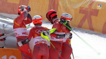 Norway Wins Bronze in Olympic Alpine Skiing Team Event
