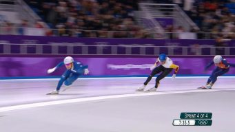Watch the Full Men's Speed Skating Mass Start Race