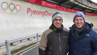 Brian Curtis Makes a New Friend in Pyeongchang