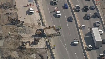 Repairs Cause Delays on Northbound I-35W in Fort Worth