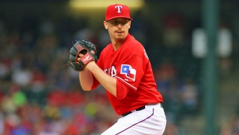 Rangers Reliever Scheppers Talks Taking a Line Drive to Head
