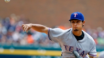 Darvish Gets Run Support in Win Over Tigers