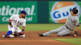 Slumping Rangers Almost No-Hit By Yankees