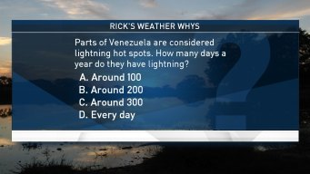 Weather Quiz: Lightning in Venezuela