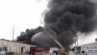Firefighter Injured in Massive Fort Worth Warehouse Fire