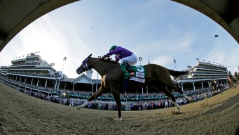 California Chrome Runs With Bulls-Eye in Preakness