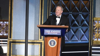 Sean Spicer Crashes Emmys to Show He's in on the Joke