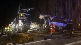 4 Children Killed in School Bus-Train Collision in France