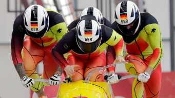 Germany Takes Commanding Lead in 4-Man Bobsled