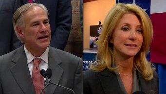 Abbott, Davis Spend Sunday Before Elections in DFW