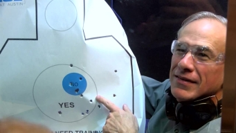 Gov. Abbott Cracks Joke About Reporters at Gun Range