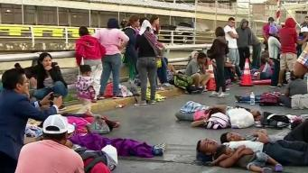 Migrants Wanting to Request Asylum Camp on Bridge to Texas