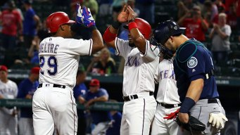 Beltre Shines as Rangers Top M's in Rain-Shortened Game