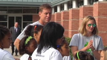 Aikman Celebrates Healthy Garland Schools