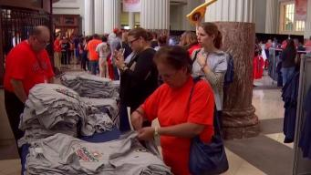 Astros Fans Line Up for World Series Championship Gear