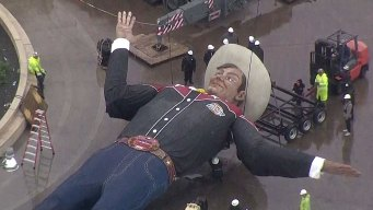 Big Tex Dismantled Wednesday in Fair Park