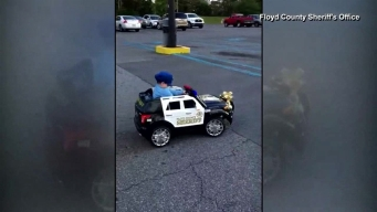 Boy Honored With Toy Police Car