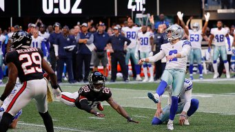Maher Boots Field Goal on Final Play, Cowboys Beat Falcons